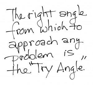 right angle saying